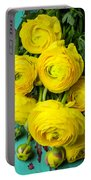 Beautiful Yellow Ranunculus Portable Battery Charger