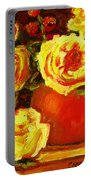 Beautiful Yellow Roses Portable Battery Charger