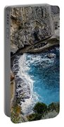 Beautifully Carved Out Swimming Deck On The Edge Of The Sea On The Amalfi Coast In Italy  Portable Battery Charger