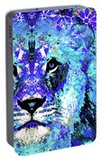 Beauty And The Beast - Lion Art - Sharon Cummings Portable Battery Charger