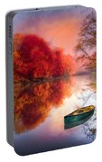 Beauty At The Lake Portable Battery Charger by Debra and Dave Vanderlaan