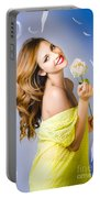 Beauty Of Romance Floating In The Summer Breeze Portable Battery Charger