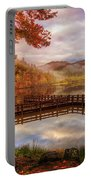 Beauty Of The Lake In Autumn Deep Tones Portable Battery Charger