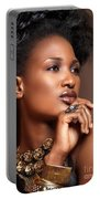 Beauty Portrait Of Black Woman Wearing Jewelry Portable Battery Charger