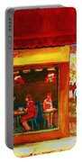 Beautys Cafe With Red Awning Portable Battery Charger