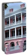Beauutiful Pink Colonial Style Mansion Portable Battery Charger