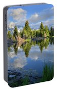 Beaver Dam Reflection In Grand Teton Np Portable Battery Charger