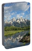 Beaver Lodge And Tetons Portable Battery Charger