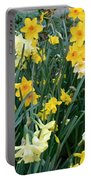 Bed Of Daffodils Portable Battery Charger