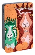 Bedazzled Llamas Portable Battery Charger