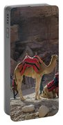 Bedouin Tribesmen, Petra Jordan Portable Battery Charger by Perry Rodriguez