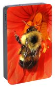 Bee And Nasturtium Portable Battery Charger