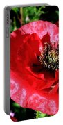 Bee And Red Poppy Portable Battery Charger