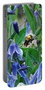 Bee Buzzing Through Blue Beauty Portable Battery Charger