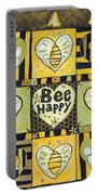 Bee Happy Portable Battery Charger by Jen Norton