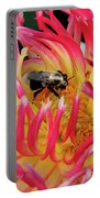 Bee In Dahlia Portable Battery Charger