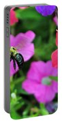 Bee In Flower Garden Portable Battery Charger