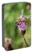 Bee On A Thistle Flower Portable Battery Charger