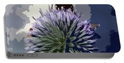 Bee On An Allium Portable Battery Charger