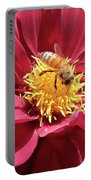 Bee On Beautiful Dahlia Portable Battery Charger