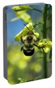 Bee On Broccoli Flower Portable Battery Charger