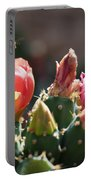 Bee On Cactus In Croatia Portable Battery Charger