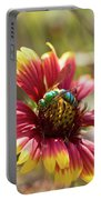 Bee On Gaillardia Portable Battery Charger