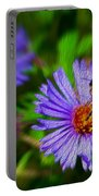 Bee On Lavender Flower Portable Battery Charger