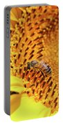 Bee On Sunflower Summer Nature Scene Portable Battery Charger