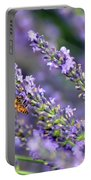 Bee On The Lavender Portable Battery Charger