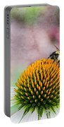 Bee On Yellow Coneflower Portable Battery Charger
