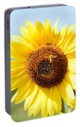 Bee On Yellow Sunflower Portable Battery Charger