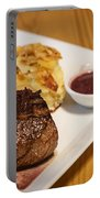 Beef Steak With Potato And Cheese Bake Portable Battery Charger