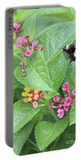Beeing Amongst The Flowers Portable Battery Charger