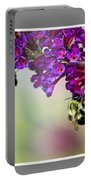 Bees On Butterfly Bush Framed Portable Battery Charger