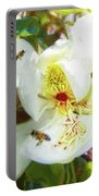Bees On Open Magnolia Portable Battery Charger