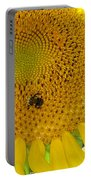Bees Share A Sunflower Portable Battery Charger