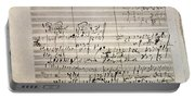 Beethoven Manuscript Portable Battery Charger