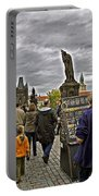 Before The Rain On The Charles Bridge Portable Battery Charger