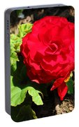 Begonia Flower - Red Portable Battery Charger