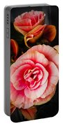 Begonia In Pink Portable Battery Charger