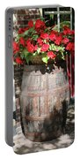 Begonias In The Barrel Portable Battery Charger
