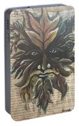 Beguiling Green Man Portable Battery Charger