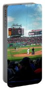 Behind Home Plate At Fenway Portable Battery Charger