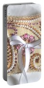 Beige-white Wedding Ring Pillow Portable Battery Charger