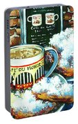 Beignets And Cafe Au Lait Portable Battery Charger