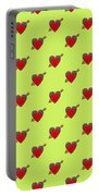 Bejewelled Heart Half Drop Portable Battery Charger