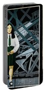 Belfast Mural - Butterfly - Ireland Portable Battery Charger