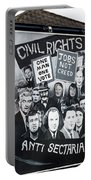 Belfast Mural - Civil Rights - Ireland Portable Battery Charger