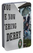 Belfast Mural - Free Derry - Ireland Portable Battery Charger